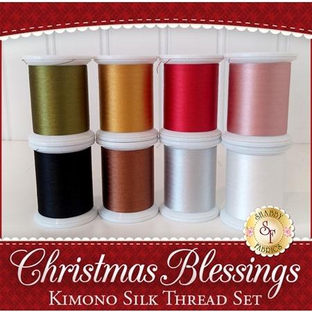 Christmas Blessings BOM - 8pc Kimono Silk Thread Set