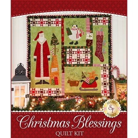 Christmas Blessings Quilt Kit - Laser-Cut or Traditional