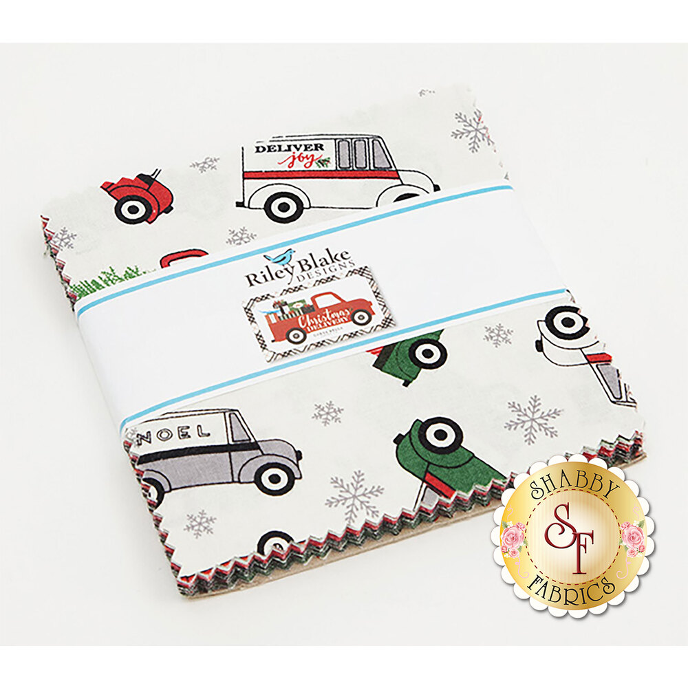 """Christmas Delivery  5"""" Stacker for Riley Blake Designs"""