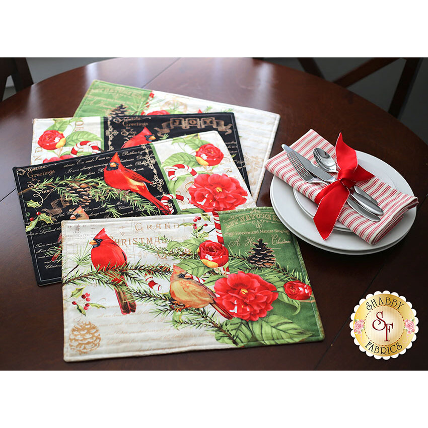 Christmas In The Wildwood - Placemat Kit