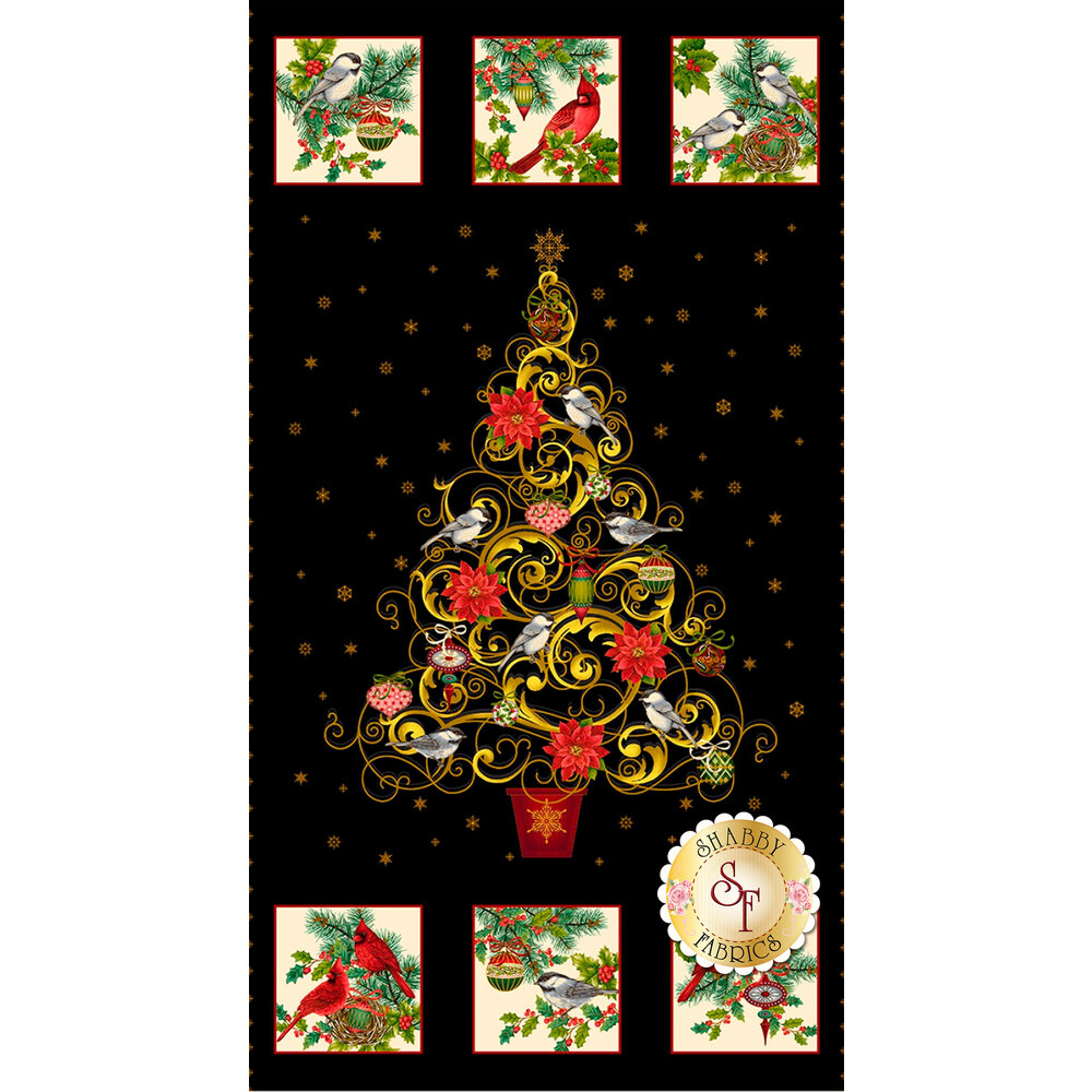 Christmas tree and block panel | Shabby Fabrics