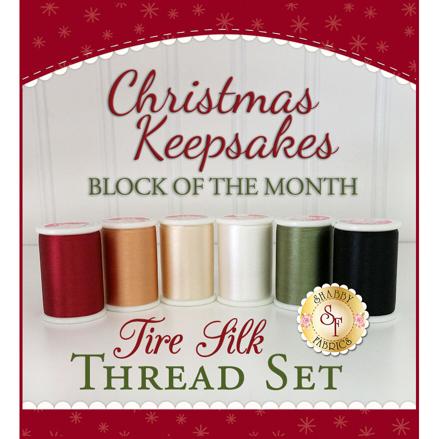 Christmas Keepsakes BOM - 6-Piece Tire Silk Thread Set