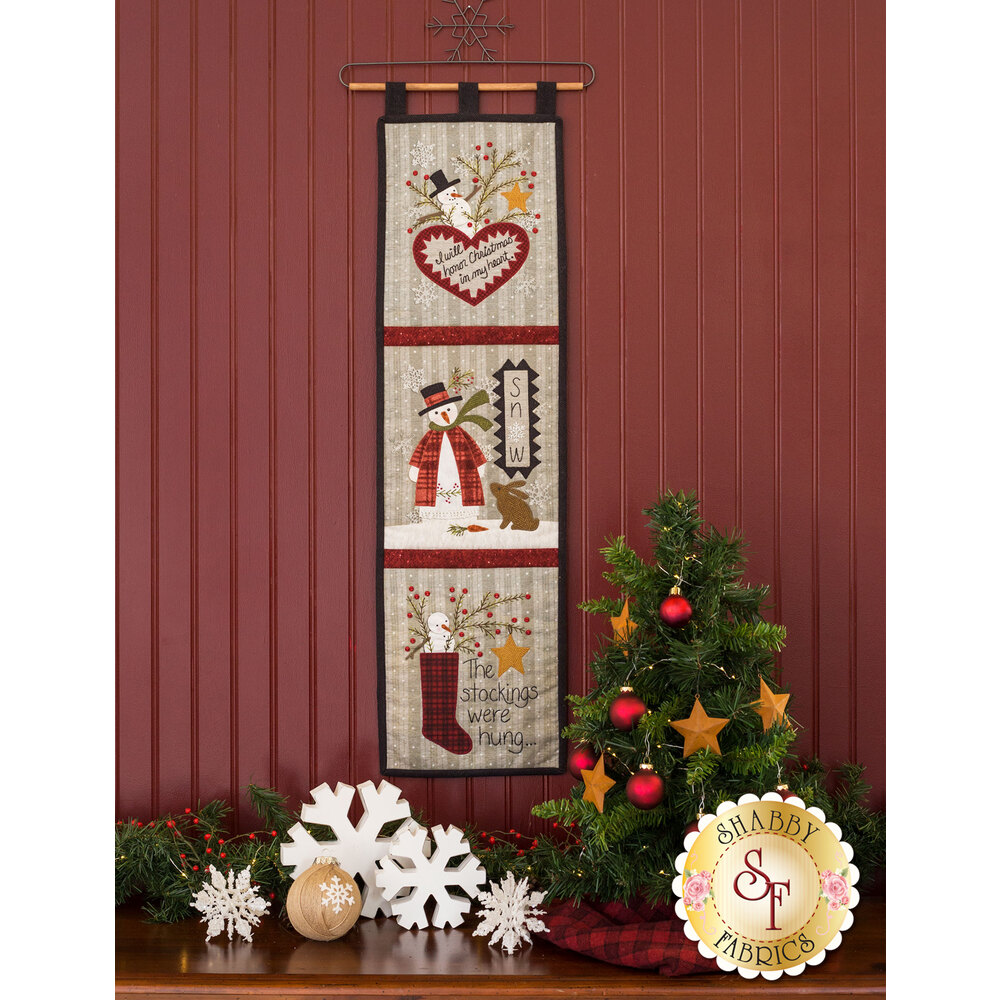 Christmas Snowmen Wall Hanging Kit - Laser-Cut