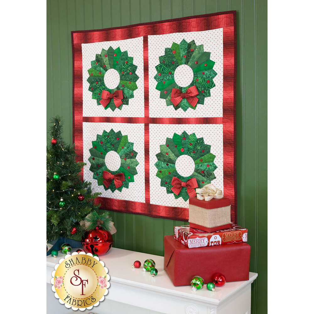 Christmas Wreath Wall Hanging Pattern