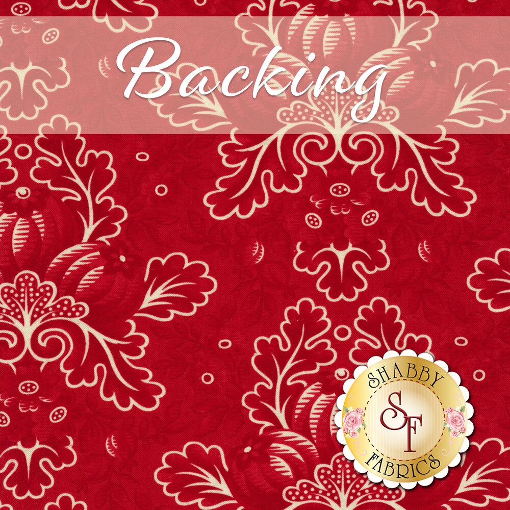 Cream fabric with tossed holly and berries - Backing | Shabby Fabrics