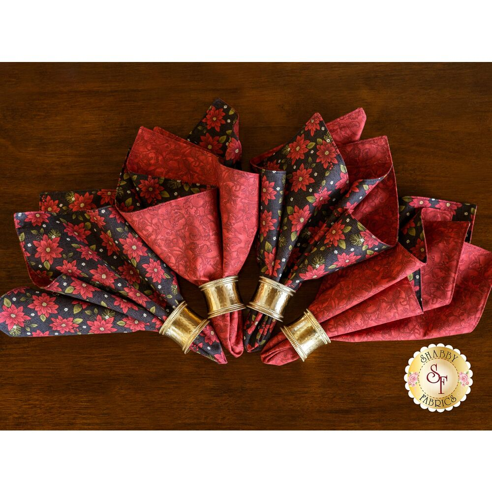 Cloth Napkins Kit - Winterberry - Makes 4