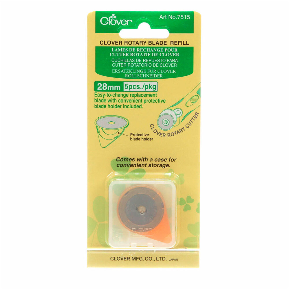 Clover 28mm Replacement Rotary Blades - 5pk | Shabby Fabrics