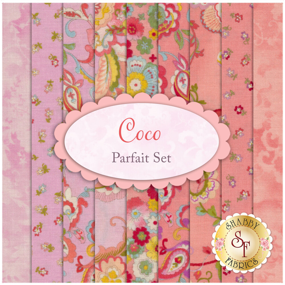 Coco  9 FQ Set - Parfait Set from Moda Fabrics by Chez Moi