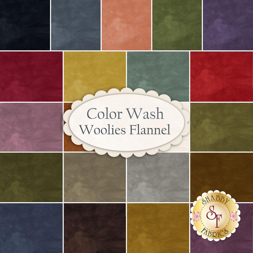 Color Wash Woolies Flannel  Yardage by Bonnie Sullivan for Maywood Studio Fabrics