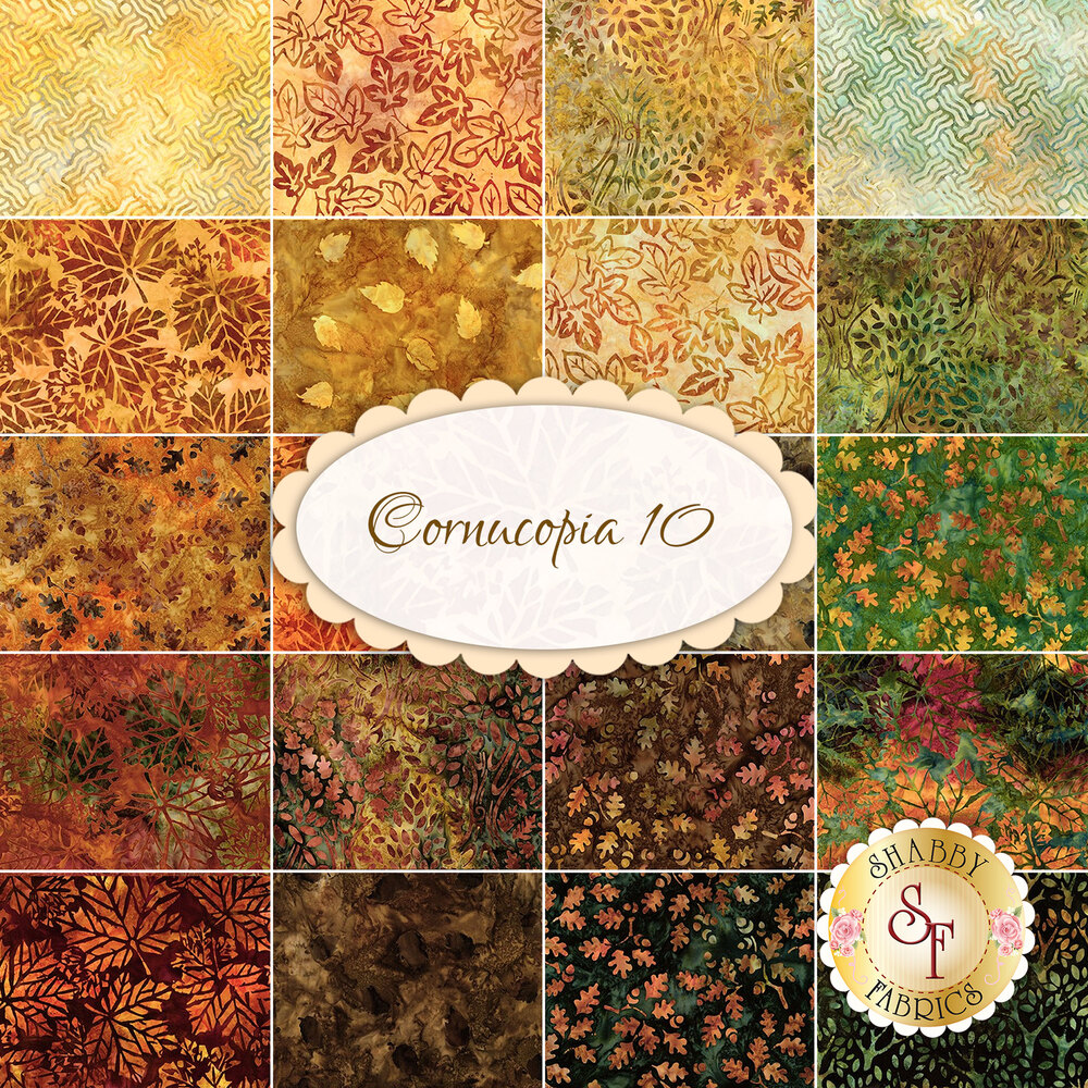 Cornucopia 10 Batiks  Yardage by Robert Kaufman Fabrics available at Shabby Fabrics