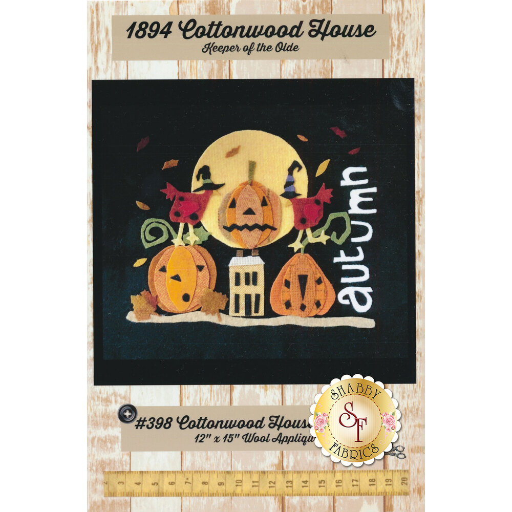 The front of the Cottonwood House Autumn Pattern showing material requirements | Shabby Fabrics
