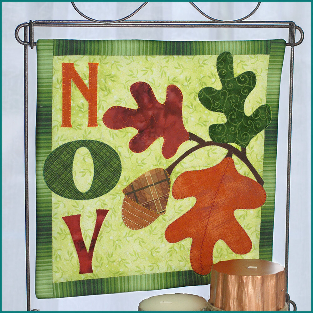 Count On It Wall Hanging Kit - November - Laser Cut