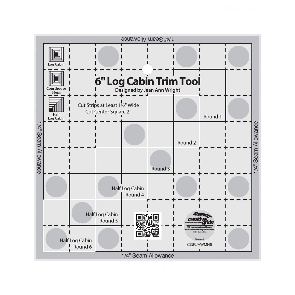"Creative Grids 6"" Log Cabin Trim Tool"
