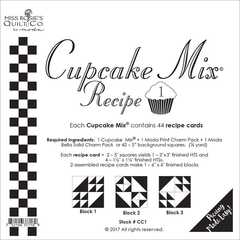 Miss Rosie's Quilt Co - Cupcake Mix Recipe 1 - 44ct