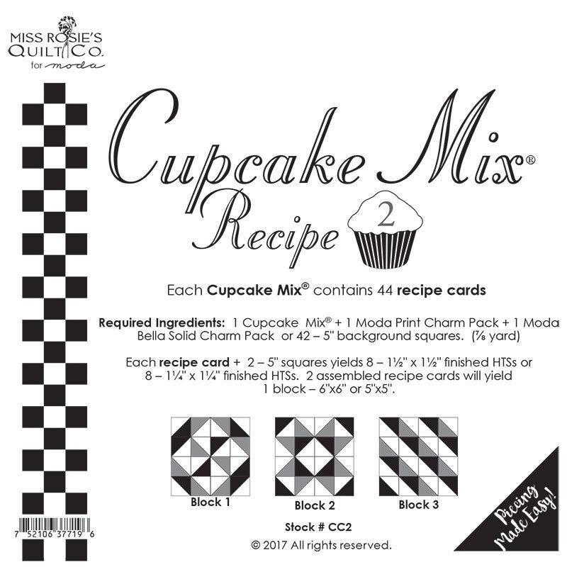 Miss Rosie's Quilt Co - Cupcake Mix Recipe 2 - 44ct