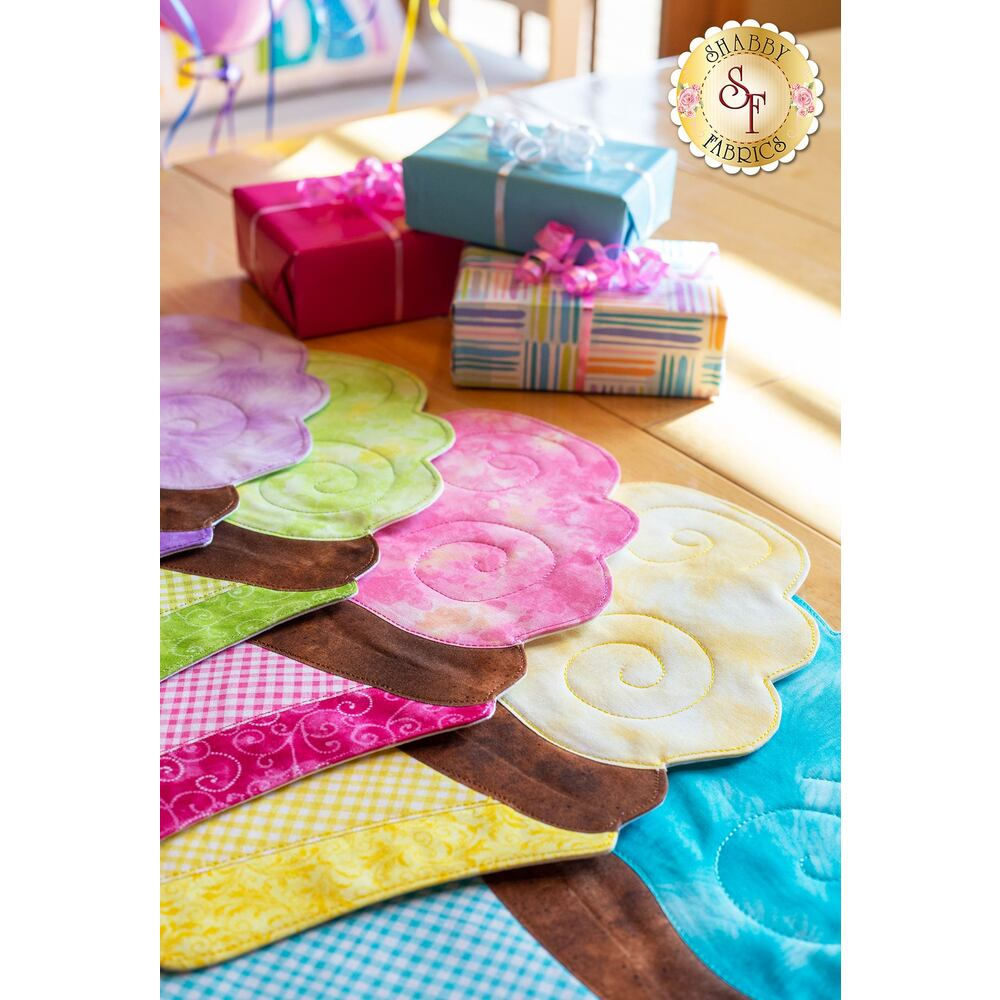 Cupcake Placemats Kit - Laser-Cut (Makes 6!)