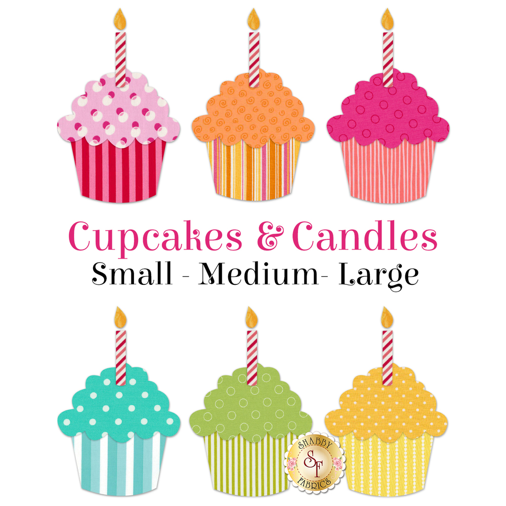 Laser-Cut Cupcakes & Candles - 3 Sizes Available!