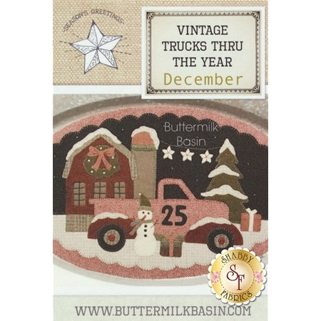 Vintage Truck Thru The Year - December Pattern