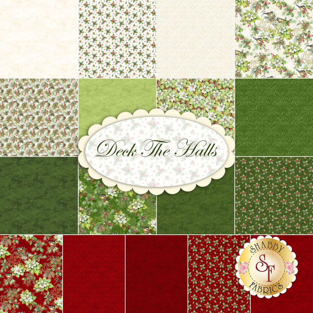 Deck The Halls Yardage from Northcott Fabrics