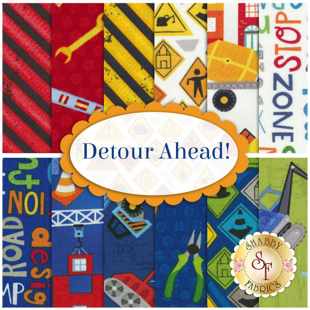 Detour Ahead!  12 FQ Set by Wilmington Prints
