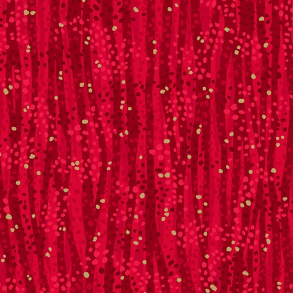Tonal red stripes with gold metallic accents   Shabby Fabrics
