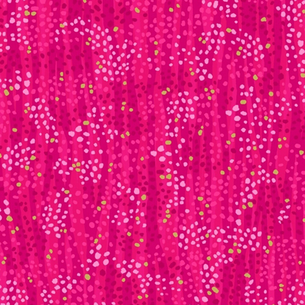 Magenta stripes with gold metallic accents | Shabby Fabrics