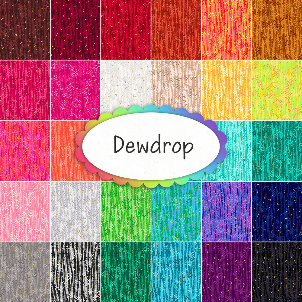 Collage of fabrics included in the Dewdrop collection | Shabby Fabrics