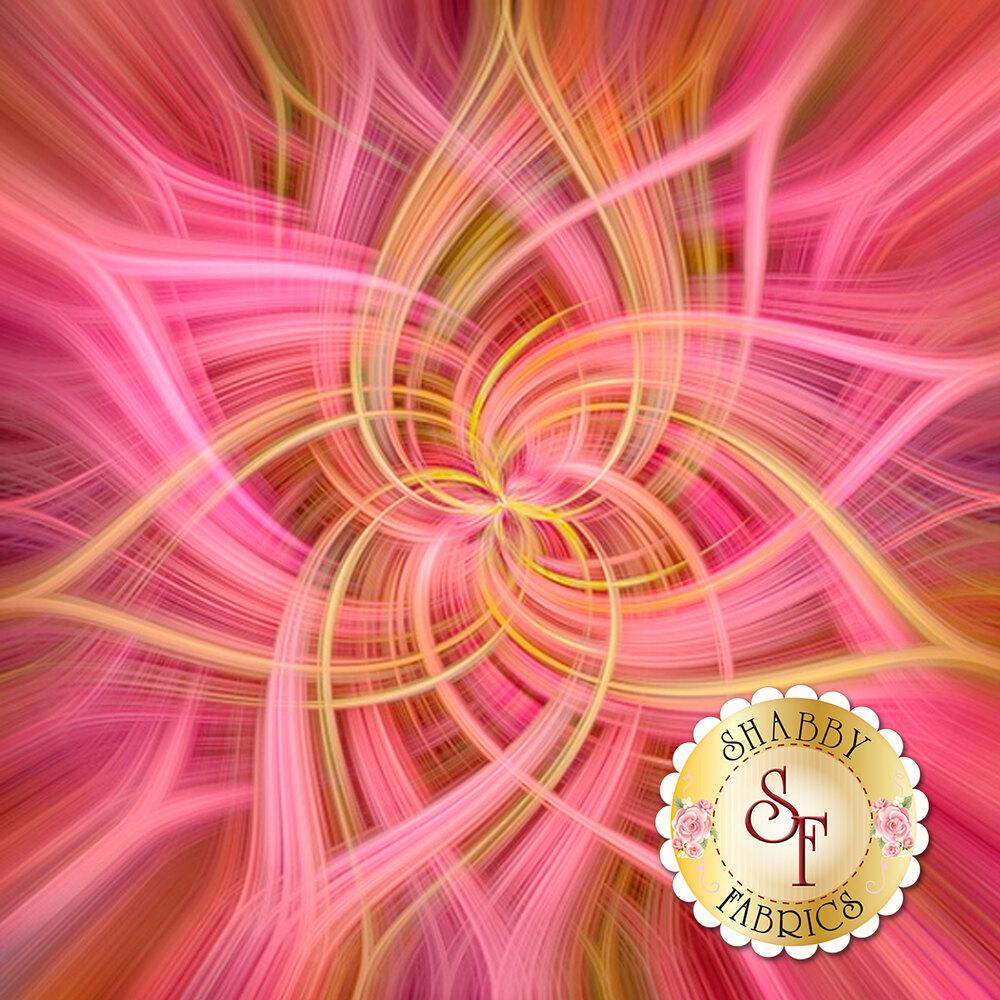 Pink floral star design | Shabby Fabrics