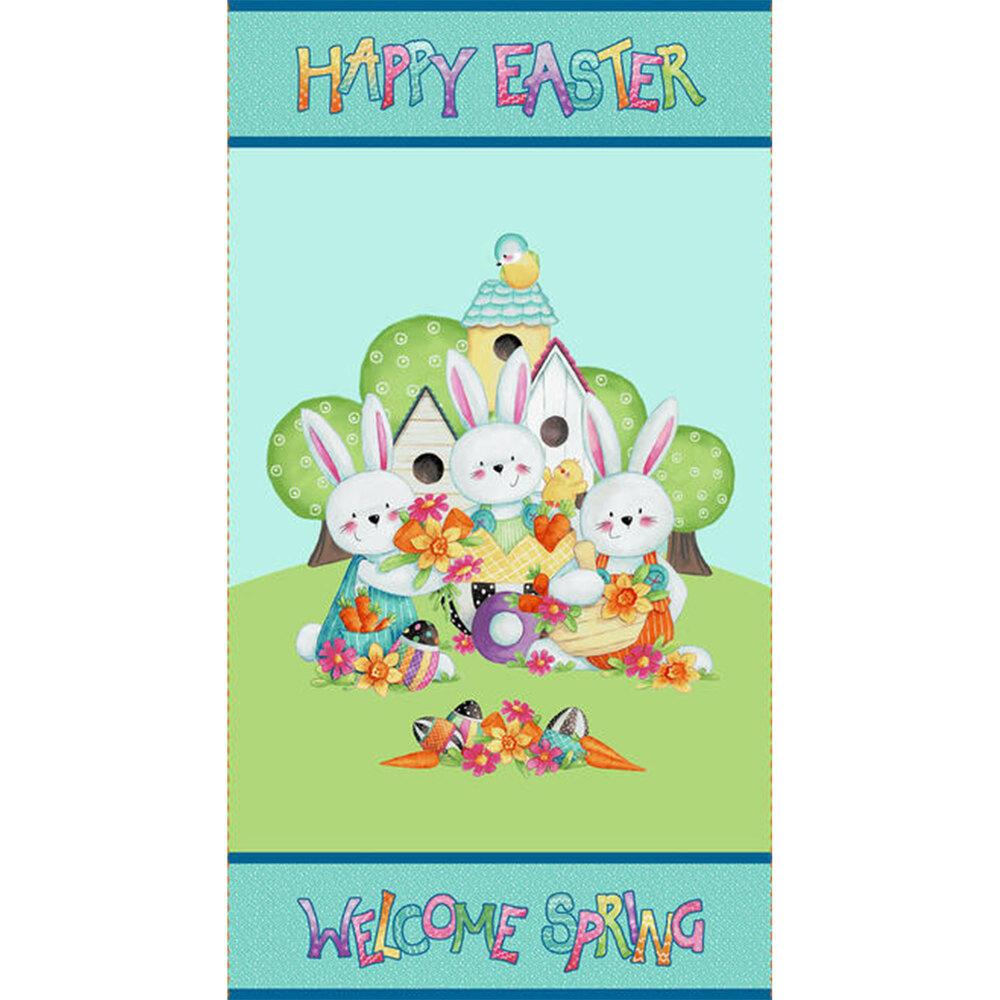 Easter Fun panel with one scene | Shabby Fabrics
