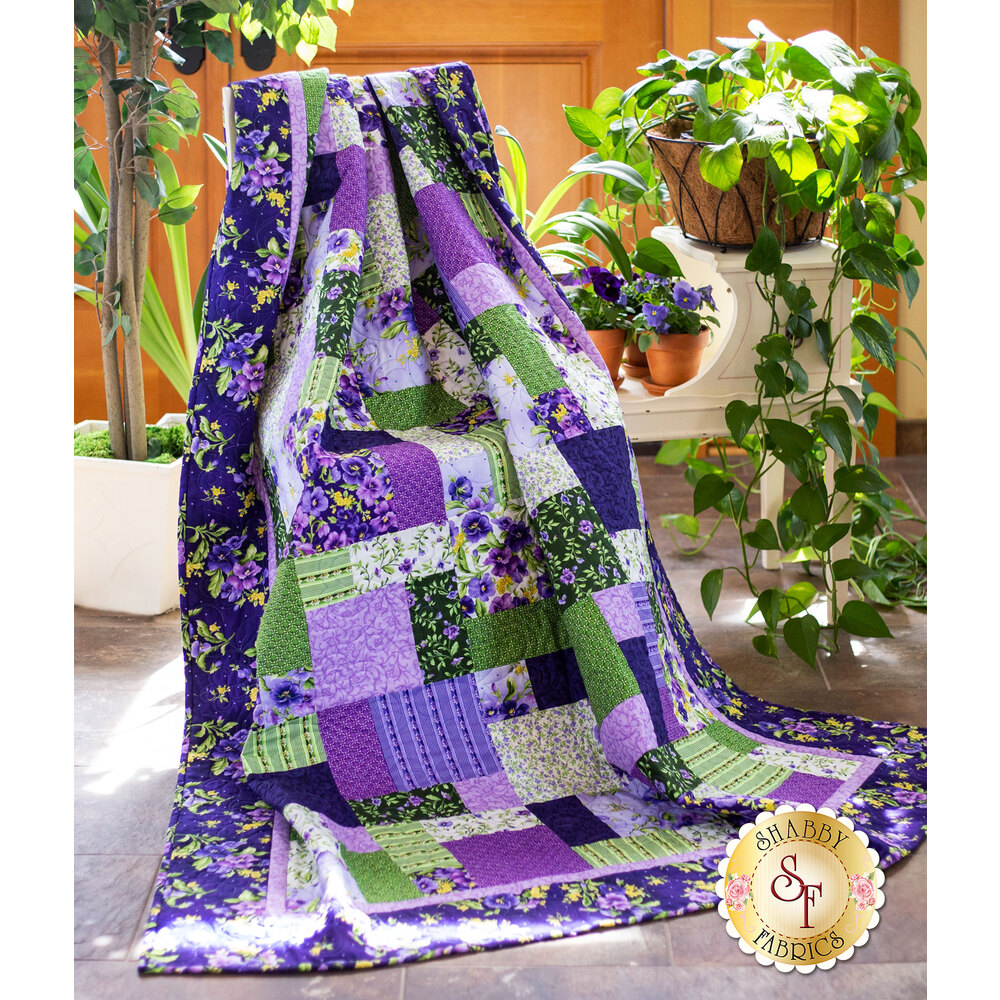 Easy As ABC and 123 Quilt Kit - Emma's Garden