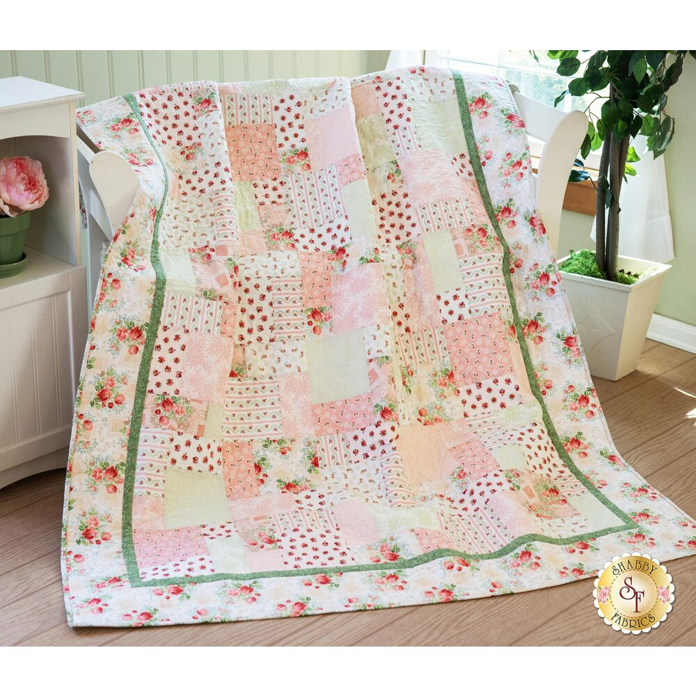 Easy As ABC and 123 Quilt Kit - Violet's Garden | Shabby Fabrics