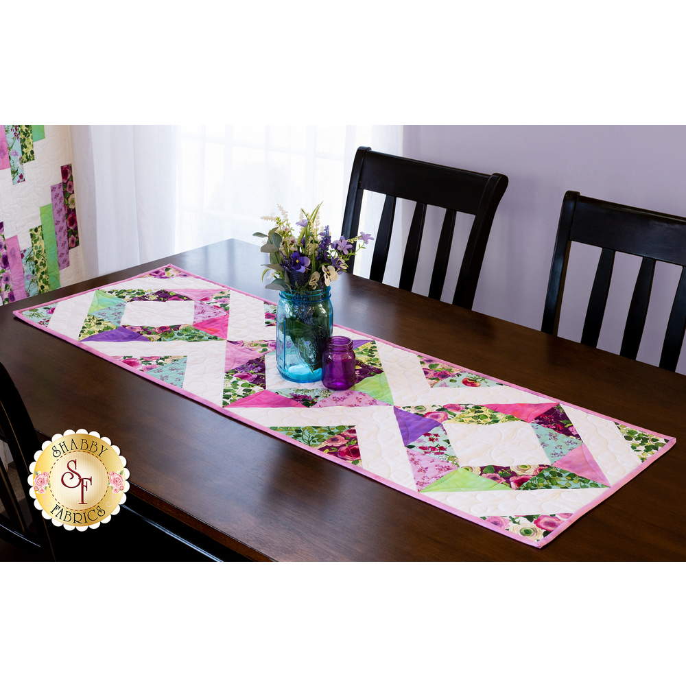 The Easy Diamond Table Runner made with the beautiful Radiance collection