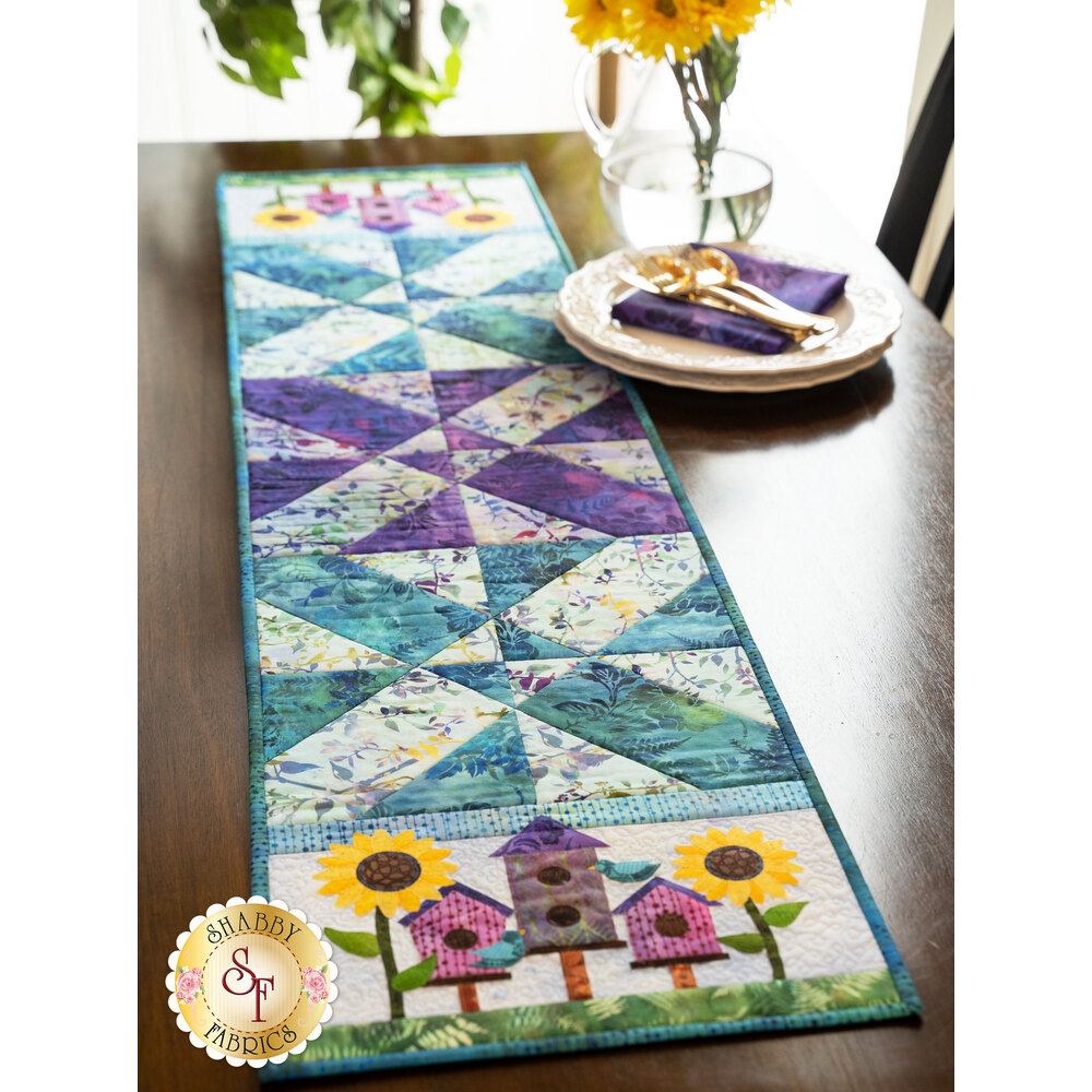 Easy Pieced Table Runner Series August Kit Shabby