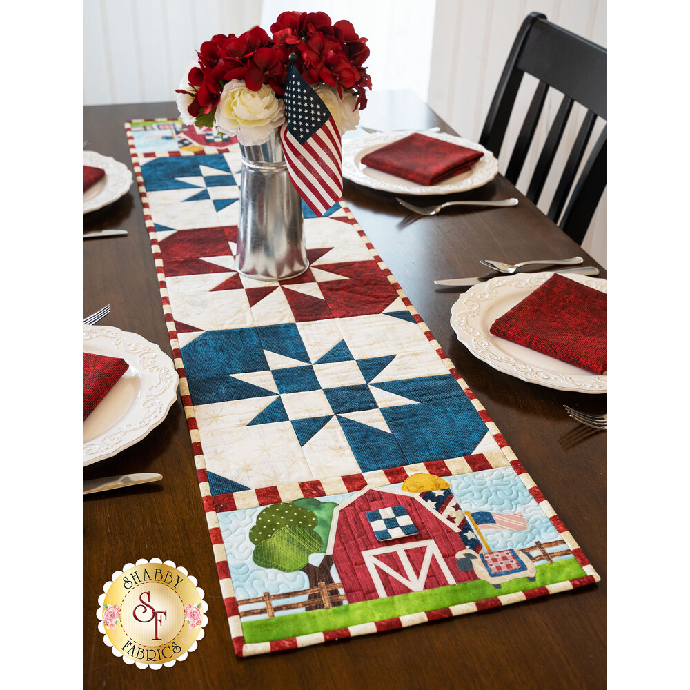 Easy Pieced Table Runner Series - July - Kit