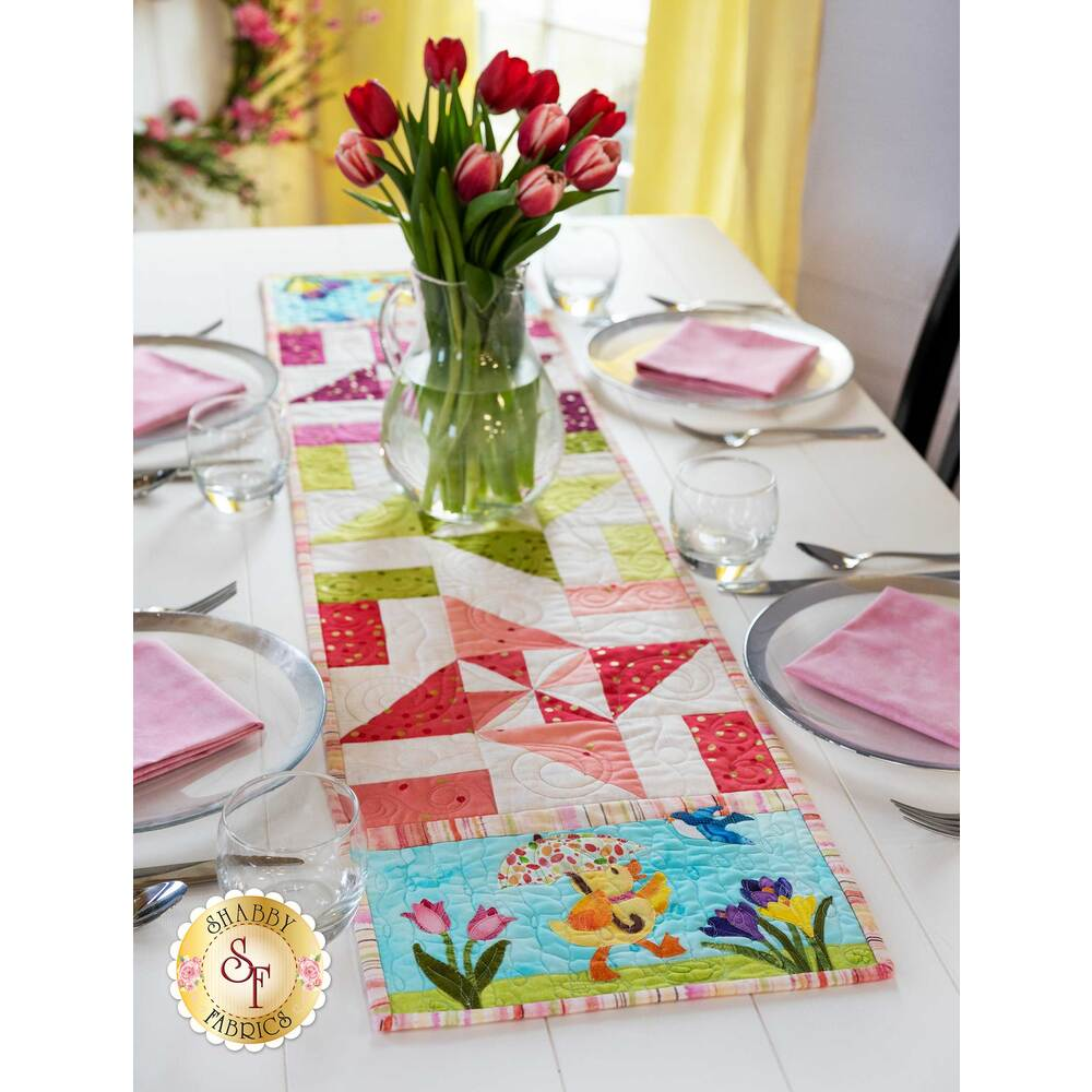 Easy Pieced Table Runner Series March Kit Shabby Fabrics