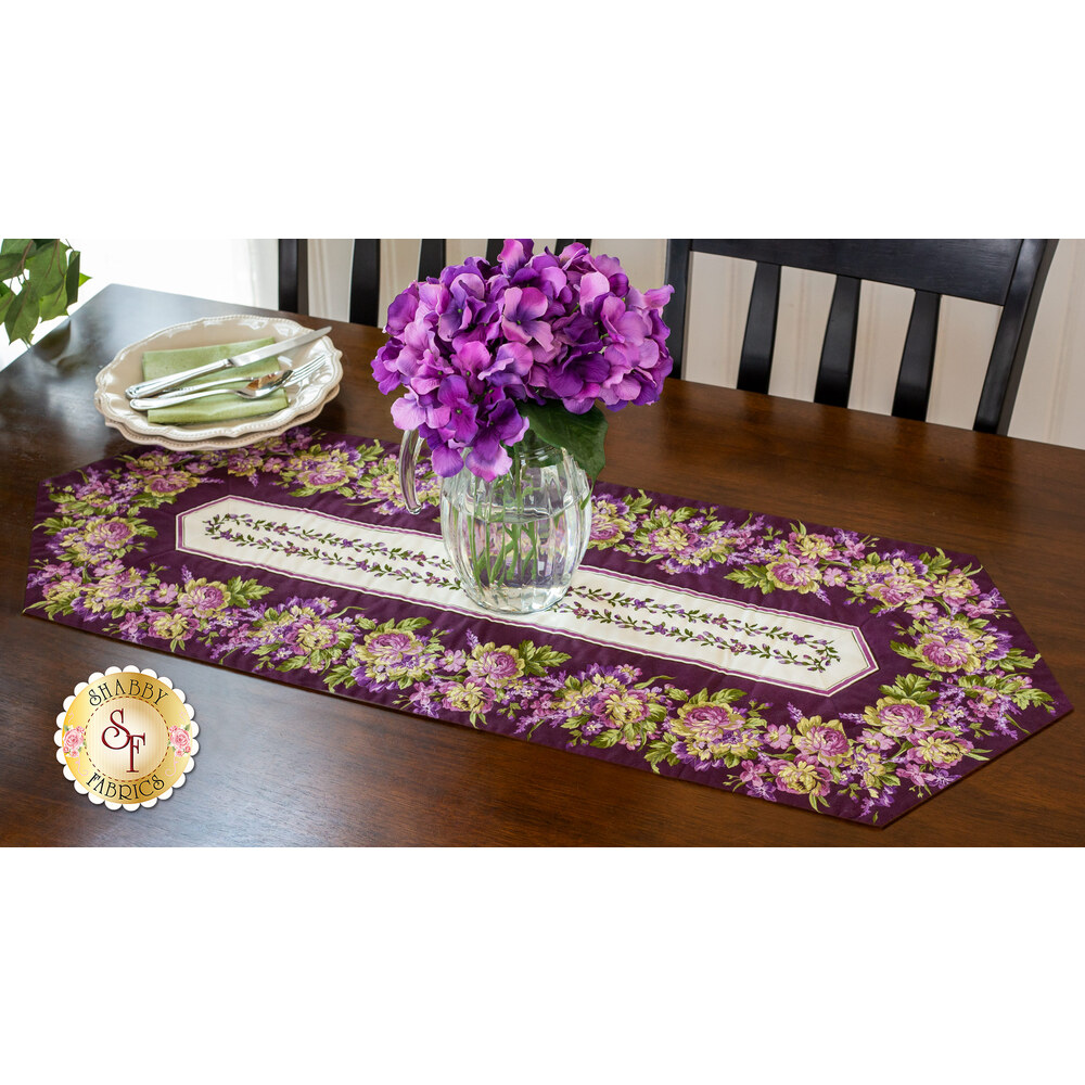Easy Striped Table Runner Kit - Aubergine Purple