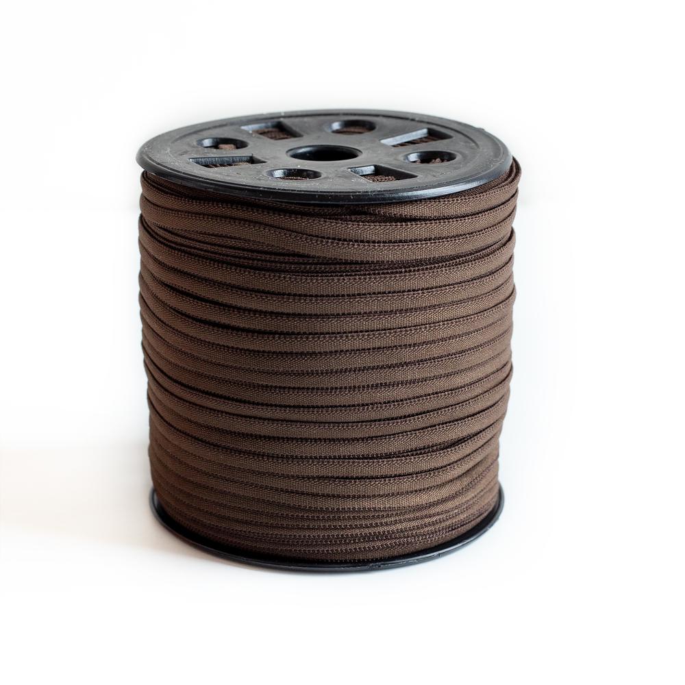 "Banded Stretch Elastic - Brown - 1/6"" x 4 yards | Shabby Fabrics"