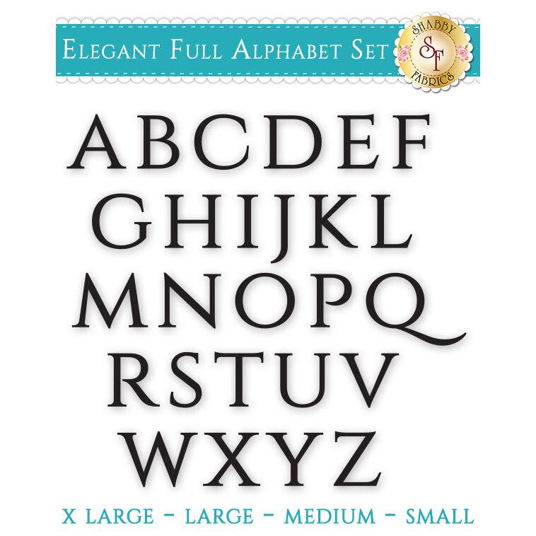 Laser-Cut Elegant Full Alphabet Set - Style 2 - 4 Sizes Available!