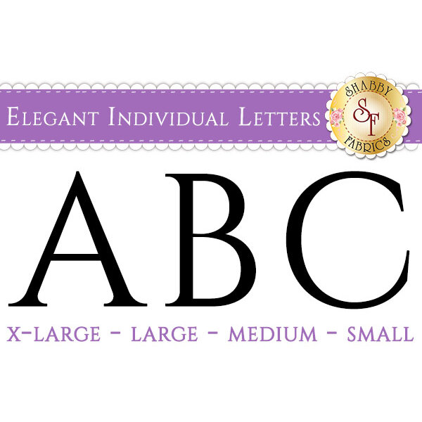 Laser-Cut Elegant Individual Alphabet Letters - Style 2 - 4 Sizes Available!