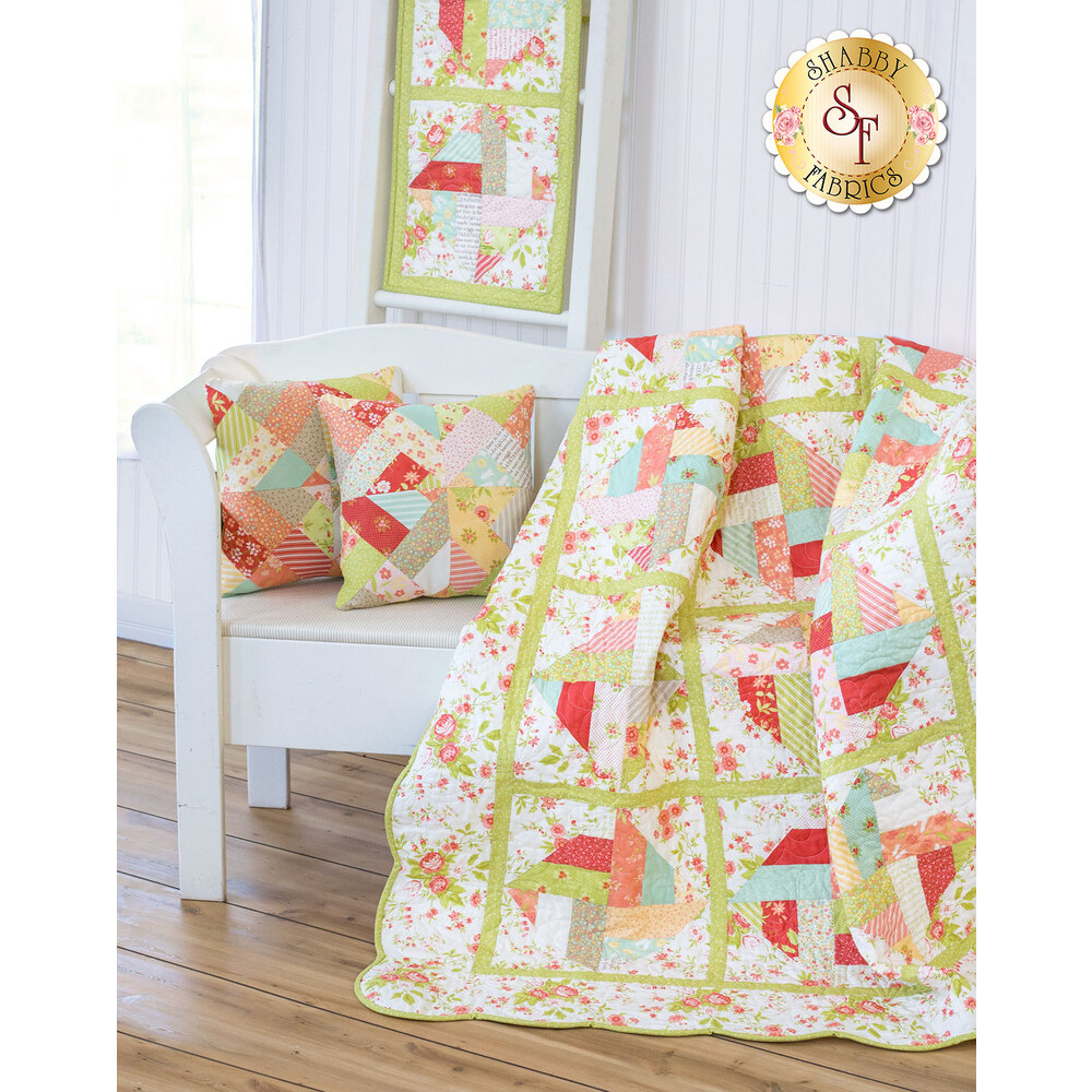 Spinning Rail Fence Quilt Kit - Ella & Ollie - 4 Projects