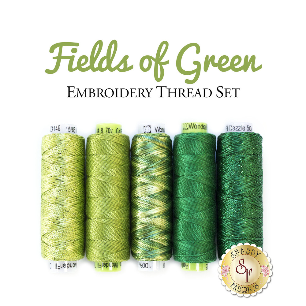 Fields of Green Embroidery Thread Set - 5pc