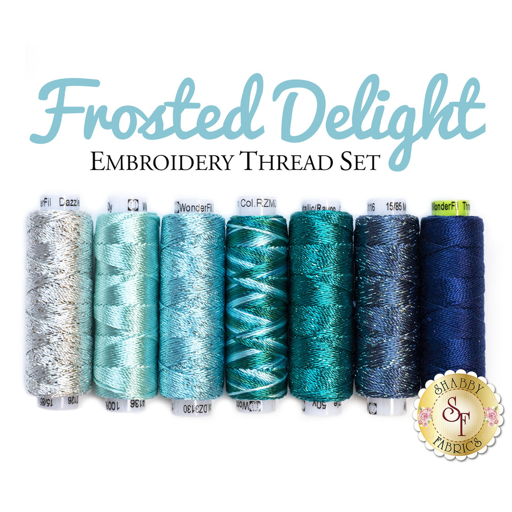 Frosted Delight Embroidery Thread Set - 7pc
