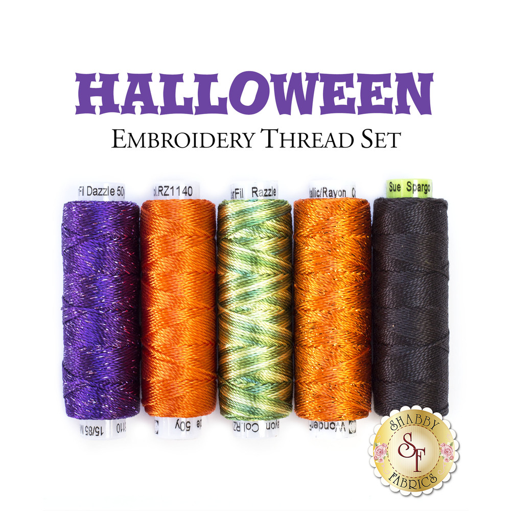 Halloween Embroidery Thread Set - 5pc