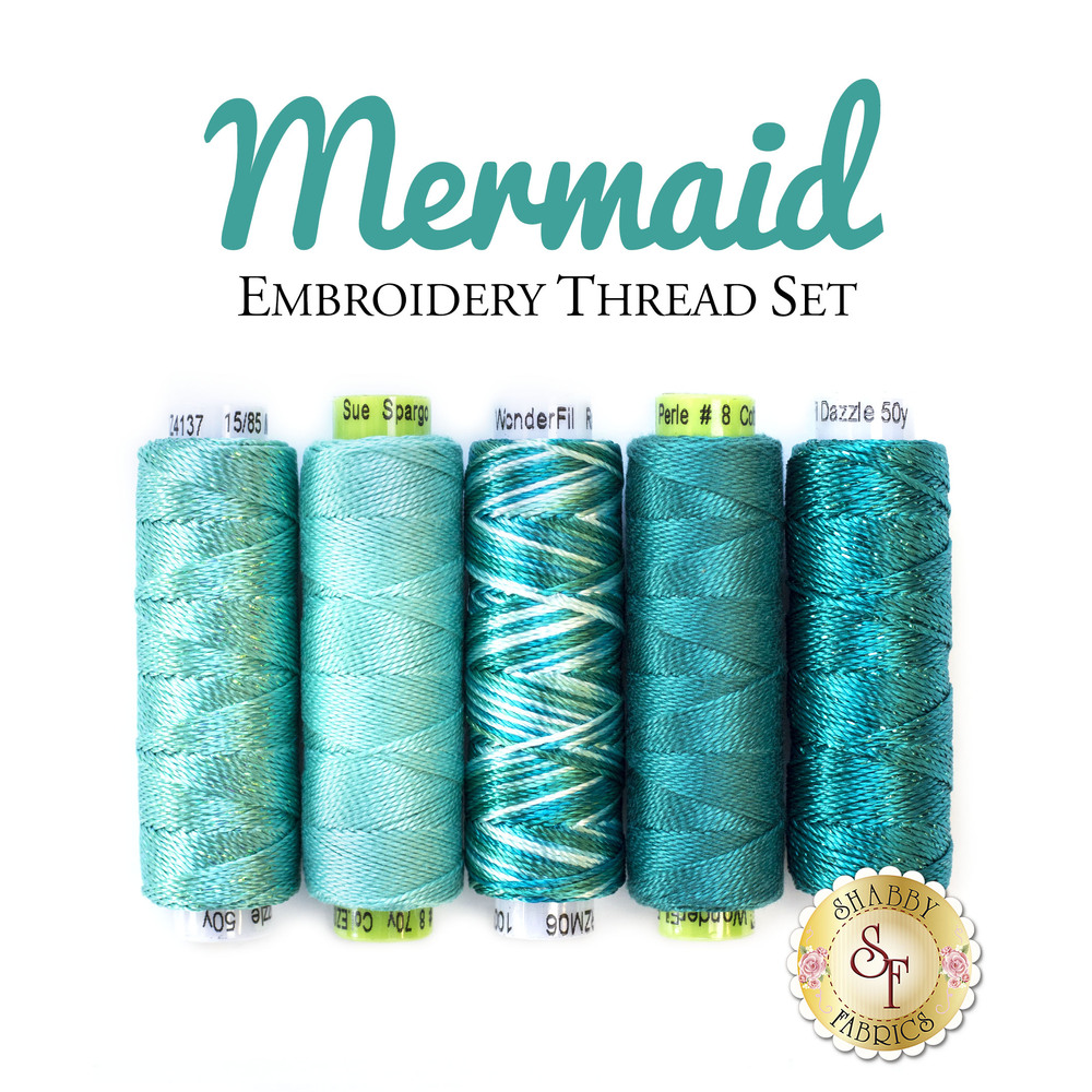 Mermaid - 5 pc Embroidery Thread Set