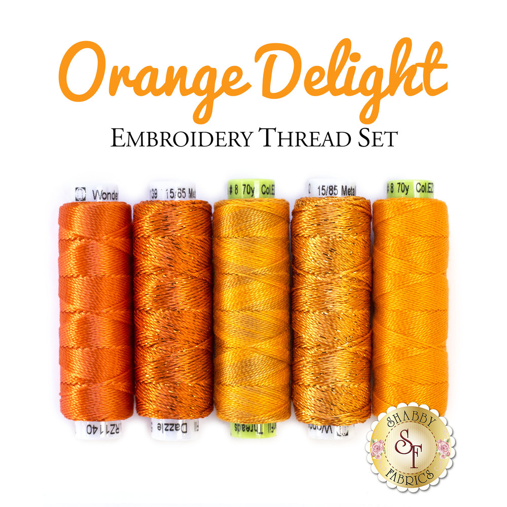 Orange Delight - 5 pc Embroidery Thread Set
