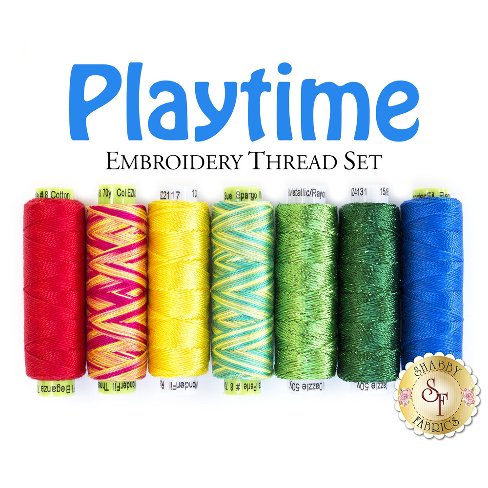 Playtime - 7 pc Embroidery Thread Set