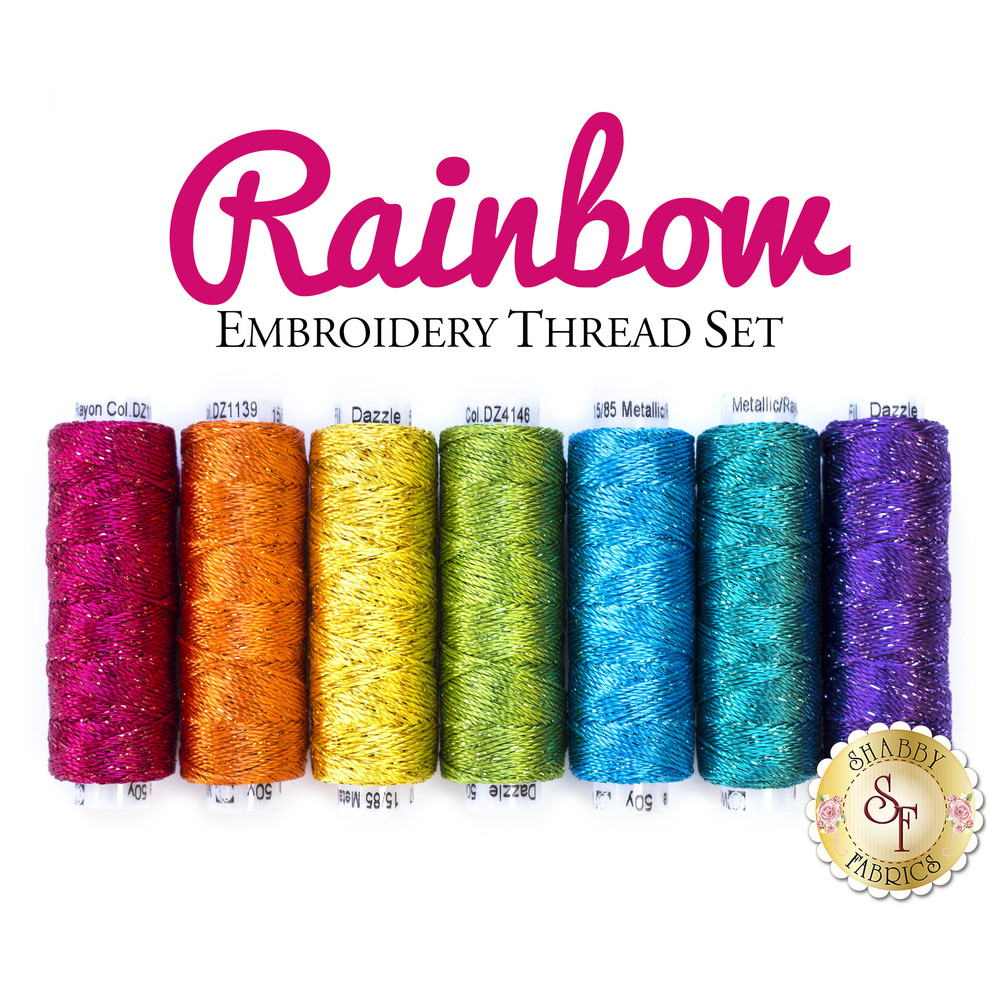 Rainbow Embroidery Thread Set - 7pc