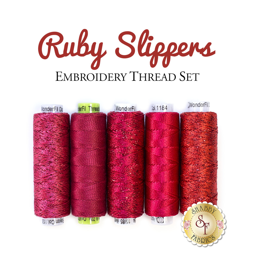 Ruby Slippers Embroidery Thread Set - 5pc