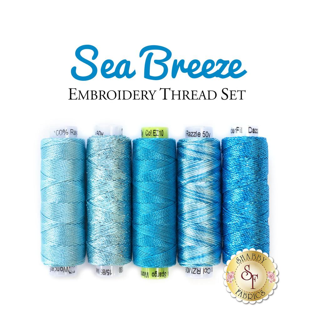 Sea Breeze Embroidery Thread Set - 5pc