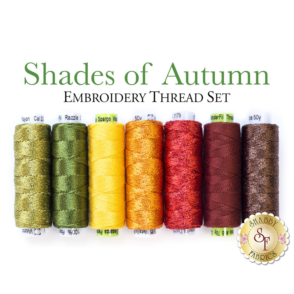 Shades of Autumn Embroidery Thread Set - 7pc